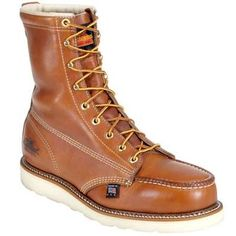 Designed for great everyday performance Thorogood Boots Men's Steel Toe EH Vibram Sole Work Boots. Get yours today at Thorogood Boots Men's Work Boots Specially designed and durable! Mens Leather Shirt, Army Shoes, American Made Boots, Engineer Boots, Steel Toe Work Boots, Mens Boots Fashion, Brown Boots, Shoe Boots, Safety