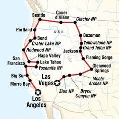 Map of the route for Vegas to Los Angeles Road Trip Mapa da rota para viagem de carro de Las Vegas para Los Angeles Rv Travel, Travel Maps, Adventure Travel, Places To Travel, Travel Destinations, Africa Destinations, Vacation Travel, Outdoor Travel, Pacific Coast Highway