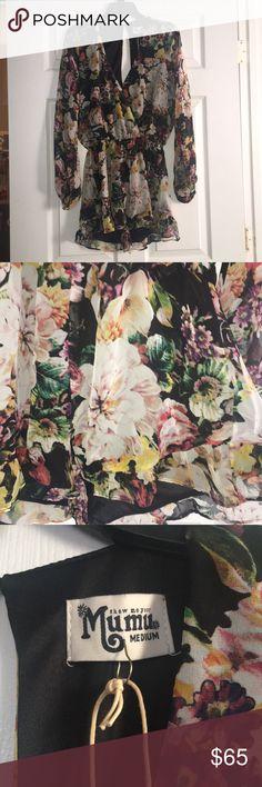 SMYM NWT Floral Romper SMYM NWT Floral Romper  Size Medium Show Me Your MuMu Pants Jumpsuits & Rompers