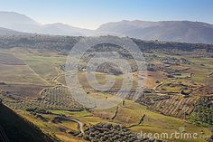 Photo about A view upon Ronda fields taken in december 2015 around Christmas time. It s a MUST-VISIT place if you like to hike! Image of city, guadalevin, europe - 70321394 Andalusia Spain, Christmas Time, Fields, Grand Canyon, December, Hiking, Europe, Stock Photos, City