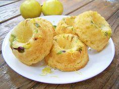 Dainty and delish lemon and pistachio baby bundts