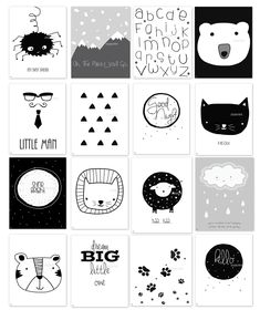 Nursery wall art, Baby room Decor, Children Art, Black and White, Modern, Minimalist nursery, Nordic art, Scandinavian Monochrome Kids, Cat print, Oh the places you'll go, Hello, Dream big. This is a beautiful reproduction of my original collage art work. My prints are a true photographic print on professional grade luster paper - photo paper. My prints are REPRODUCTION / DUPLICATION of my unique artwork, NOT the original collage art. It might look on your screen as a 3D art work but what…
