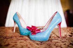 FABulous pale blue glitter wedding shoes by @milkhoneyshoes Photo by @CarterHewson