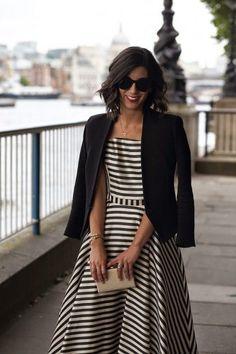 Outfit Vestidos, Fashion Vestidos, Fashion Mode, Look Fashion, Womens Fashion, Looks Style, Style Me, Hair Style, Estilo Navy