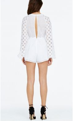 In The Night Playsuit White