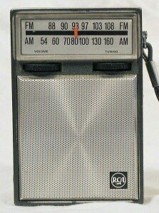 FM Transistorradiootje dat je overal mee naar toe kon nemen....