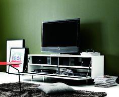 Volani skříňka pod TV se sklápěcími dvířky - bílá lakovaná / TV cabinet Tv, Flat Screen, Living Rooms, Blood Plasma, Lounges, Television Set, Flatscreen, Home Living Room, Family Rooms