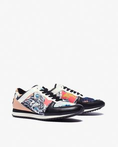 2a4d6ae689f Kenzo Embossed Patent Sneaker