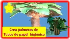 Palmera con tubo de papel higiénico-manualidades y decoraciones - http://cryptblizz.com/como-se-hace/palmera-con-tubo-de-papel-higienico-manualidades-y-decoraciones/