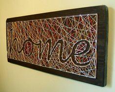 HOME Modern String Art Wooden Name Tablet - cursive. $70.00, via Etsy.