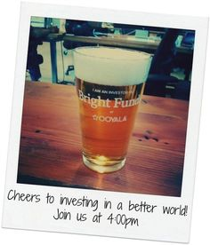 Employees at our first company received a Bright Funds account and a pint glass!!