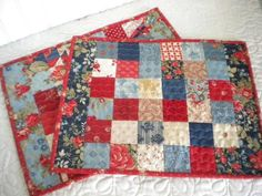 Looking for your next project? You're going to love Scrappy Patchwork Placemats by designer SherriQuilts. - via @Craftsy