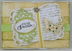 Beautiful Spellbinders card looks like a book by Lovely Linda!
