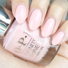 OPI Infinite Shine Sweet Heart: A light-hearted pale pink!