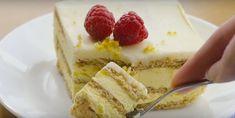 Gâteau au citron sans cuisson - Desserts - Ma Fourchette Cold Desserts, No Bake Desserts, Baking Desserts, Biscuits Graham, Dessert Parfait, Poke Cakes, Tasty, Yummy Food, Banana Split
