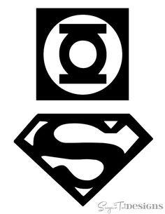Superman and Green Lantern logos