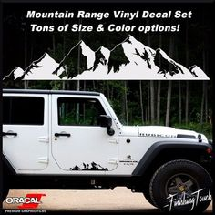 Mountain Off Road Door body Vehicle decal Sticker Car Truck RV Northwest jeep vw | eBay Motors, Parts & Accessories, Car & Truck Parts | eBay!