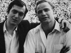 Stanley Kubrick and Marlon Brando