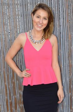 Pink peplum! #ShopDreamgirls