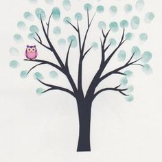 Fingerprint Tree  Print Suitable For Any Occasion - BTY-C-4645