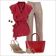 CHATA'S DAILY TIP: We love a red and stone colour combination; timeless…