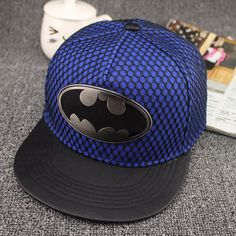 0888df8a9e9c3d 2018 acrylic Metal Cross superman batman Crocodile Baseball Cap hip-hop cap  Adjustable Snapback Hats for men and women