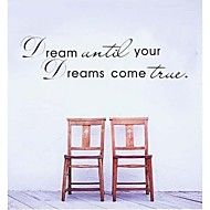 MZY LLC (TM) Dream until your dream come true Sticker For Home Decor wall Decals Decor Art Vinyl Mural >>> Trust me, this is great! Click the image. : home diy improvement