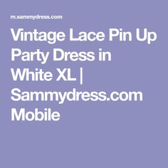 Vintage Lace Pin Up Party Dress in White XL | Sammydress.com Mobile