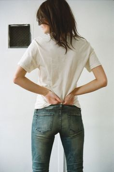 ss white tee + jeans