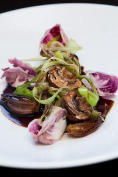 Italienischer Pilzsalat mit Lauch und Radiccio