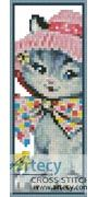 Cat in a hat Bookmark Counted Cross Stitch Pattern http://www.artecyshop.com/index.php?main_page=product_info&cPath=26&products_id=1266