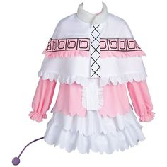 Ya-cos Miss Kobayashi-san Dragon Maid Kanna Costume Outfit Cosplay... ❤ liked on Polyvore featuring costumes, role play costumes, dragon halloween costume, maid costume, cosplay costumes and maid cosplay costume