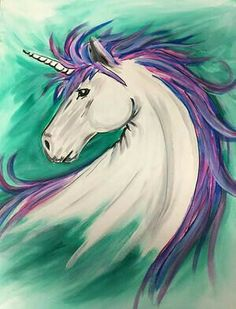 Wine & Design Jacksonville NC Wine & Paint Parties Source by elaniemann Wine Painting, Painting For Kids, Painting & Drawing, Unicorn Painting, Unicorn Art, Unicorn Kids, Best Drawing For Kids, Wine And Canvas, Paint Party