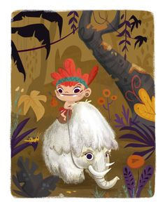 Mamut & boy by Betowers, via Behance