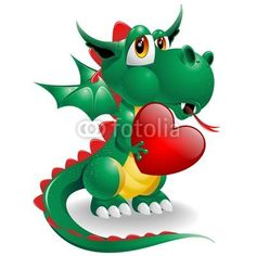 Baby Dragon Love Symbol 2012-Vector © bluedarkat
