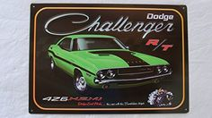 Dodge Challenger, Man Cave Signs, Tin Signs, Bee, Stripes, Logo, Amazon, Vehicles, Vintage