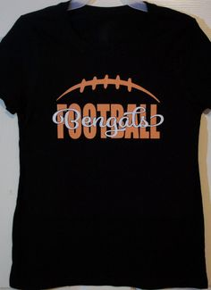 Support your team with some bling!! We all know a little bit of glitter makes everything better! This is a custom football t-shirt. You can customize for your favorite or team colors, team name (Knights shown), player name and number (please see link at bottom to add a player name and/or