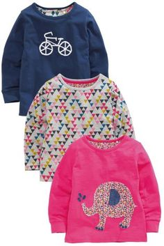 Buy Three Pack Elephant Applique T-Shirts from the Next UK online shop Next Clothing Kids, Latest Fashion For Women, Kids Fashion, Shirt Blouses, T Shirt, Elephant Applique, Canada, Next Uk, Kids Outfits