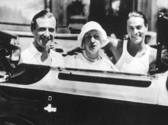 Cannes, 1931: Cecil Beaton, Elsie de Wolfe and Oliver Messel
