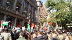 Descendientes de palestinos en contra de la guerra en Palestina