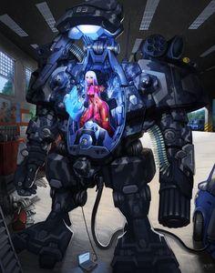 Titanfall mangafied.  Download the wallpaper - http://digitalart.io/titanfall-anime-mech-girl-wallpaper/