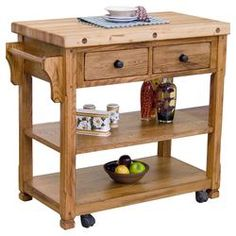 Sedona Kitchen Cart with Butcher Block Top
