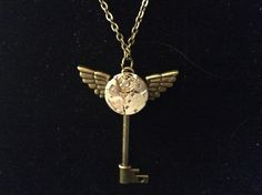 """Steampunk Key Necklace on 30"""" chain by CutesyandFun on Etsy"""