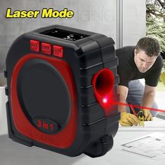 Are you an avid DIY enthusiast? Introducing the 3 In 1 Digital Laser Tape Measure Electronic Rolling Measuring Tool that is a major upgrade from your regular tape measure. Clever Gadgets, Cool Gadgets To Buy, Gadgets And Gizmos, Home Gadgets, Home Tools, Diy Tools, Diy Inspiration, Construction Tools, Diy Home Repair