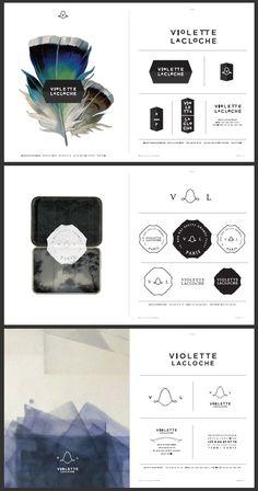 Violette Lacloche branding suite options // via The Beauty Shop