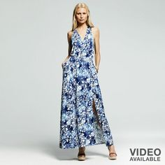 Peter Som for designation splatter maxi dress on shopstyle.com