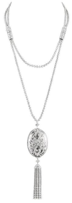 Boucheron Nature de Cristal diamond and rock crystal necklace.  From the jewelry editor.com