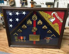 18 x 24 Military Shadow box Military Retirement, Military Careers, Military Gifts, Retirement Gifts, Retirement Ideas, Marine Corps, Military Shadow Box, Military Box, Military Service