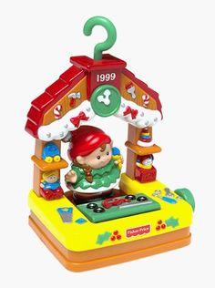 Fisher Price Little People Ornament girl Kids Christmas Eve Keepsake 1999 New #FisherPrice