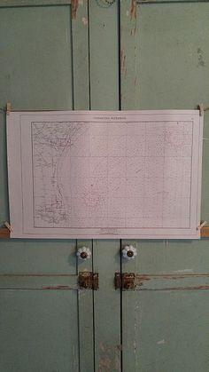 """For sale at Retrophoria.com, $25.00 - 22""""x14 1/2"""" paper map Texas Gulf Coast - Southeast Texas"""